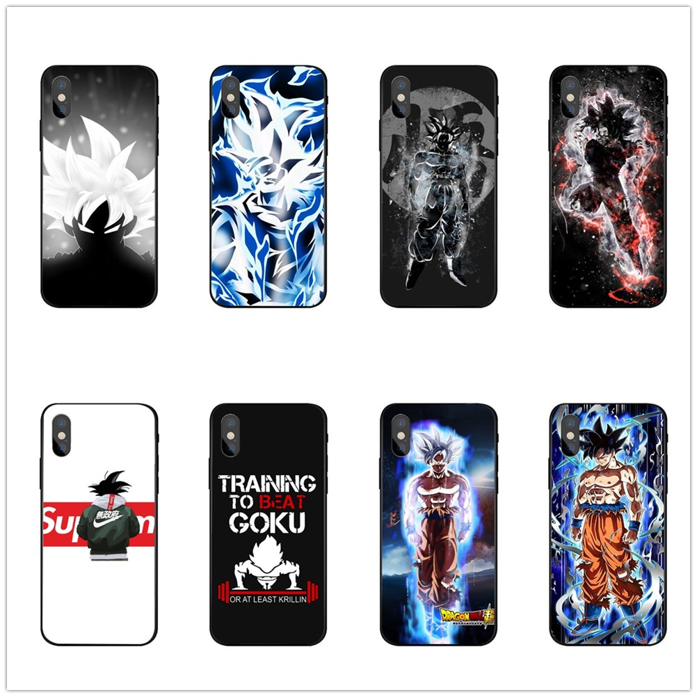 Fashion DragonBall Z goku black Soft TPU Phone Cases For iPhone 11 Pro MAX XS MR X10 5 5S SE 6 6S Plus 7 8 8Plus