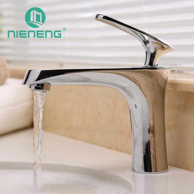 Nieneng High Quality Bathroom Faucet Polised Br Taps Basin Vessel Luxury Hotel Sink Mixer Tap