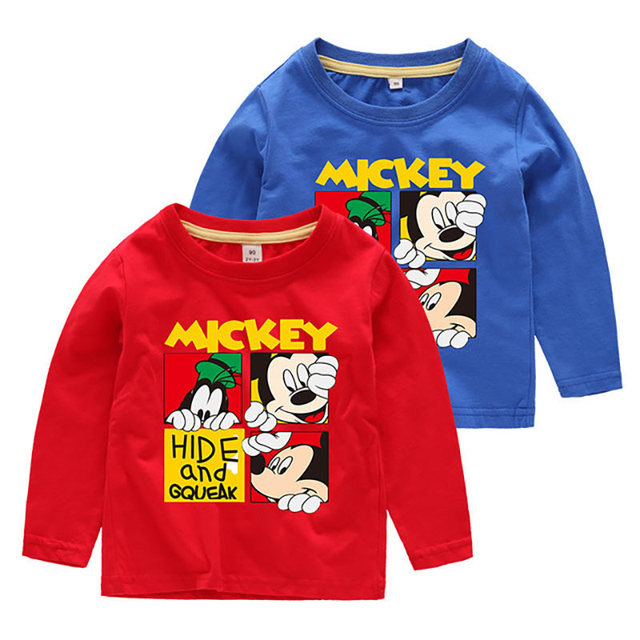 826b0f79c Children Mickey Mouse T shirts Boys Girls Long Sleeve Clothing 2019 Spring  Autumn Cartoon Tee shirt Kids Cotton Tops Clothing