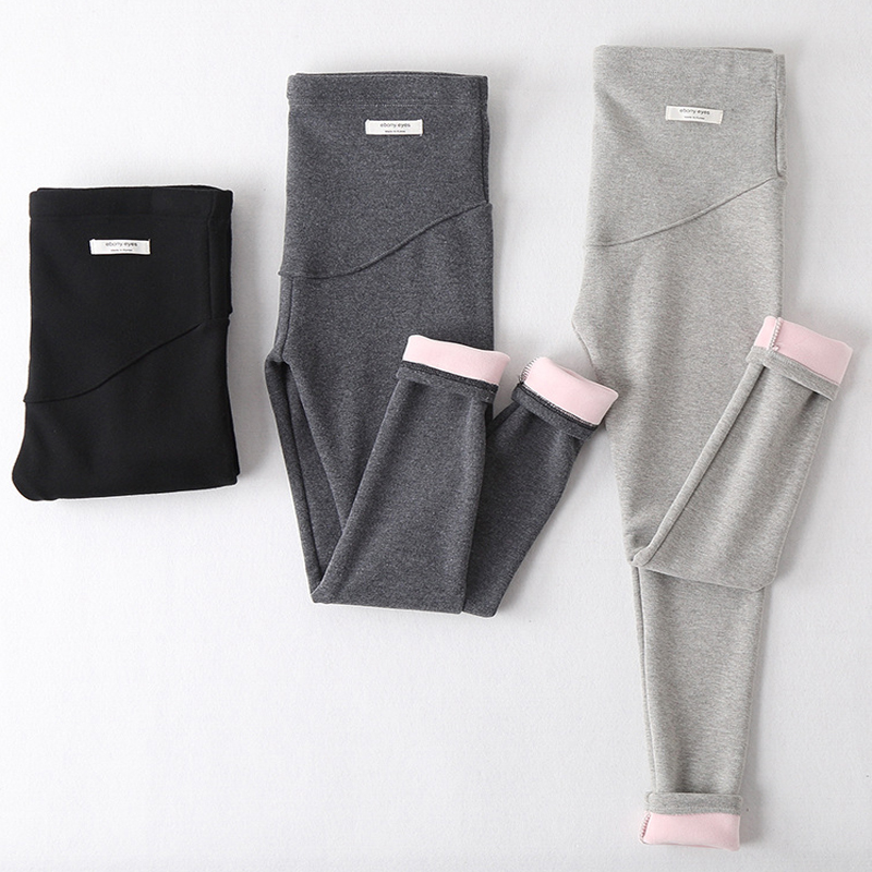 Velvet-Pants Pregnancy-Trousers Maternity-Leggings Winter for Warm Thickening