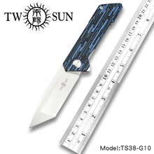 TWOSUN Knives D2 Fast Open Folding Pocket Knife tactical knife Survival knives camping outdoor Bearings G10 TS38-G10