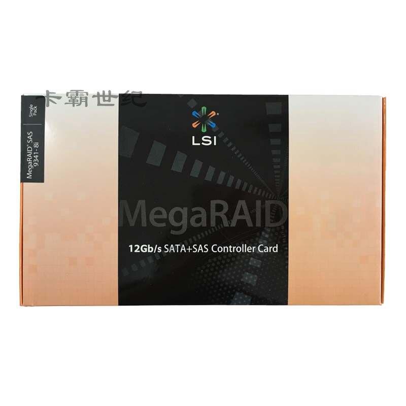 Frete grátis Original autêntica LSI MegaRAID SAS 9341-8i LSI00407 RAID5 Cartão Matriz Nova caixa de cor para três anos