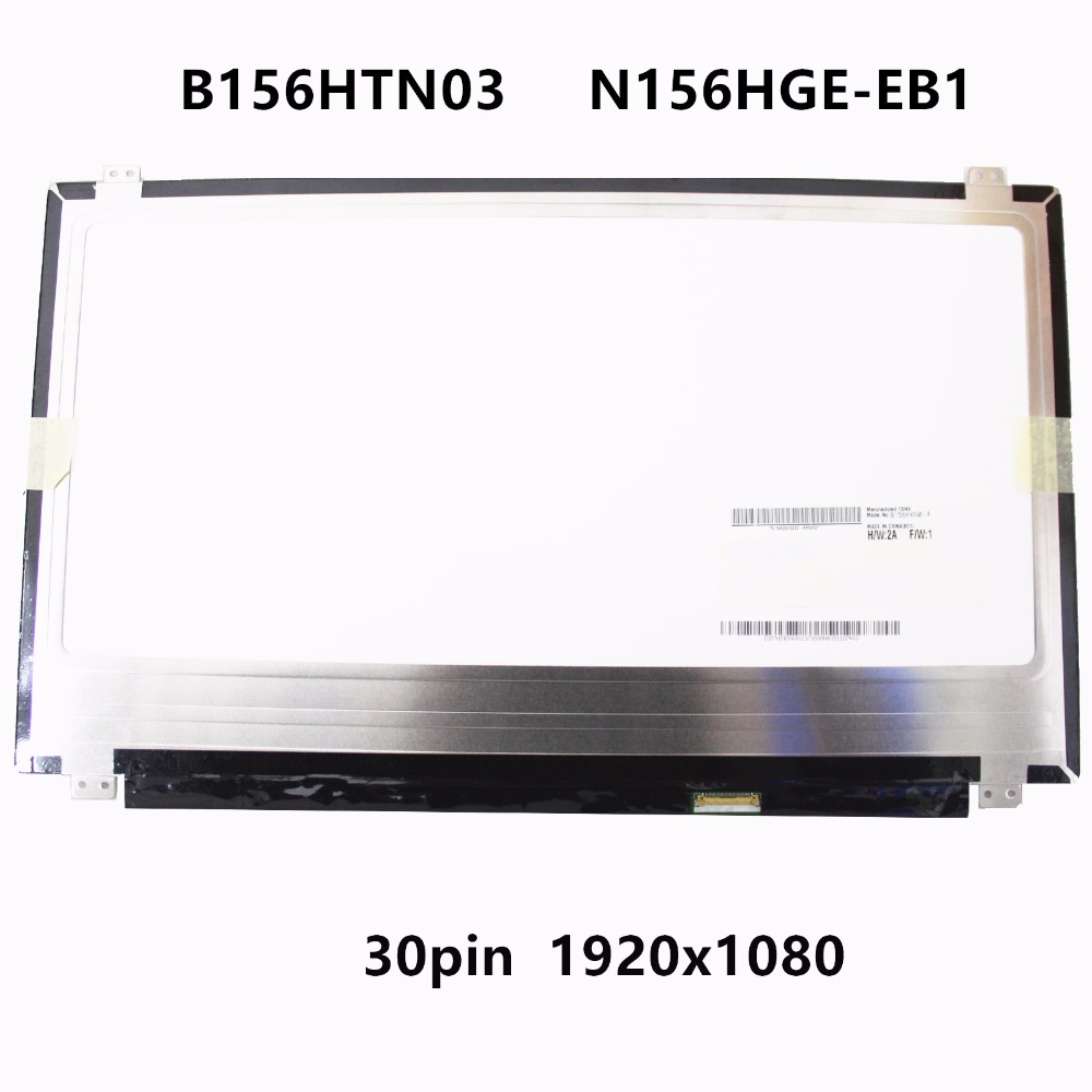 15.6'' LCD Screen IPS Panel Display Matrix Replacement N156HGE-EB1 B156HTN03.6 B156HTN03.4 B156HTN03.0 For Dell Inspiron 7567