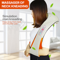U Shape Electrical Shiatsu Back Neck Shoulder Body Kneading Massage relaxing products Infrared Massagem with Gift Box