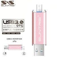 Suntrsi OTG Pen Drive High Speed Metal USB Stick PenDrive USB 3 0 Flash Drive 64GB