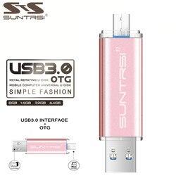 Suntrsi otg pen drive 32gb high speed metal usb stick 64gb 16gb pendrive usb 3 0.jpg 250x250