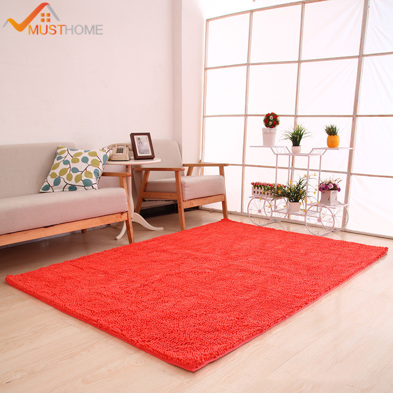 "Washable Area Rugs Living Room: 70x180cm/28""x71"" Chenille Microfiber Floor Rugs For Living"
