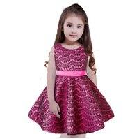 الفتيات الملابس 2017 الصيف بوتيك عيد الأحمر تول زهرة طفل الفتيات اللباس مخطط الأميرة اللباس للأطفال 10 سنوات