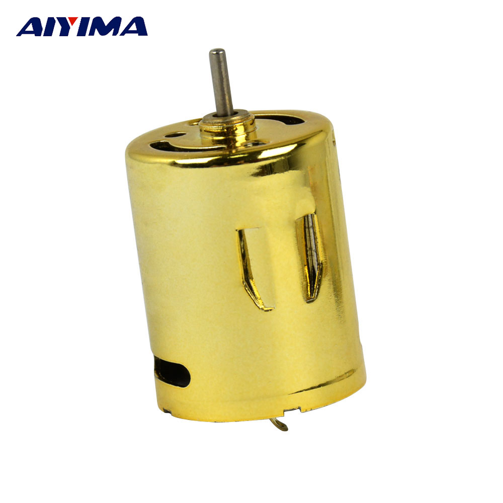 Aiyima 370 Micro Water Bomb Motor 11.1V 6100rpm/m High Speed NdFeB Magnets Double Ball Bearings Mini DC Motor Tyrant Gold Aiyima 370 Micro Water Bomb Motor 11.1V 6100rpm/m High Speed NdFeB Magnets Double Ball Bearings Mini DC Motor Tyrant Gold