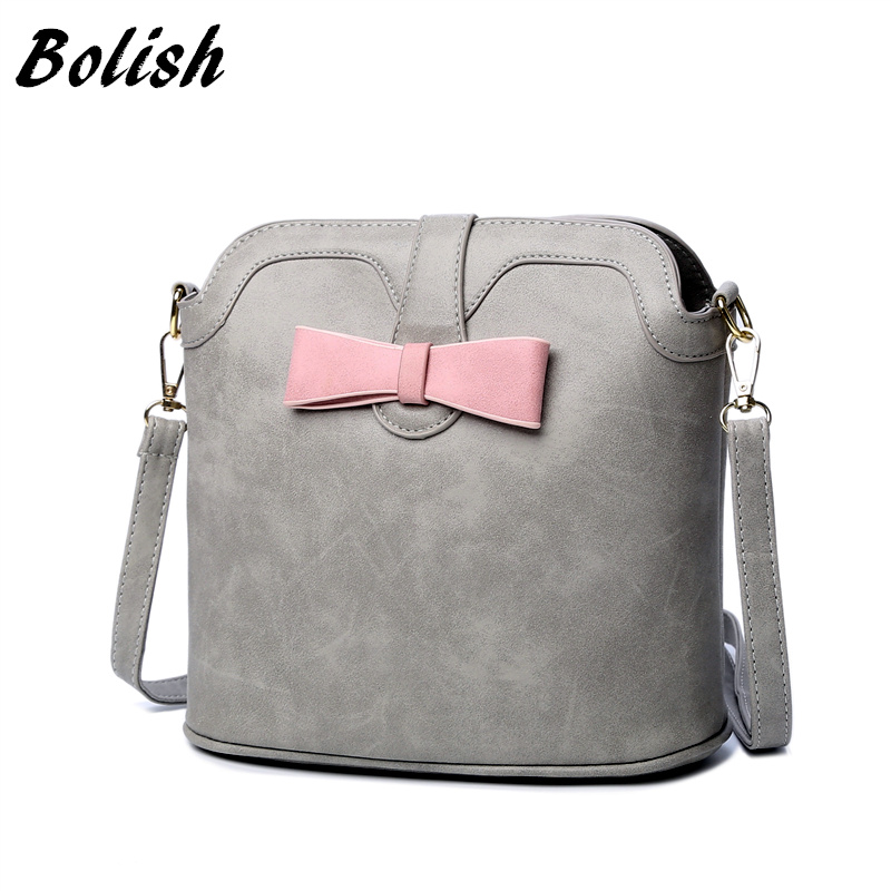 Bolish Nubuck Leather Small Women Shoulder Bag Fashion Bucket Crossbody Bag For Female Handbag double shoulder waterproof bag small submersible for beach bag drifting bucket bag