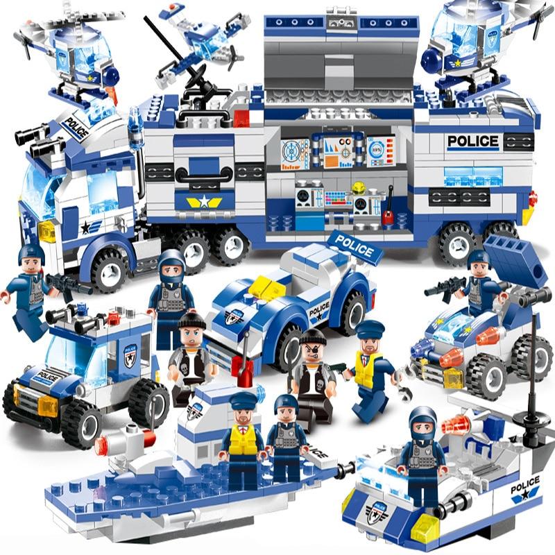 2018 NEUE 8 IN 1 Roboter Flugzeug Auto LegoINGs Stadt Polizei SWAT Bausteine Sets Ziegel Playmobil Pädagogisches Spielzeug Für kinder