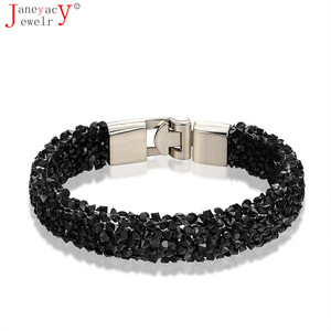 2019 New Fashion 10 Color Crystal Bracelet CZ Bracelet Women's Bracelet Best Jewelry Valentine's Day Present Pulseira Masculina(China)