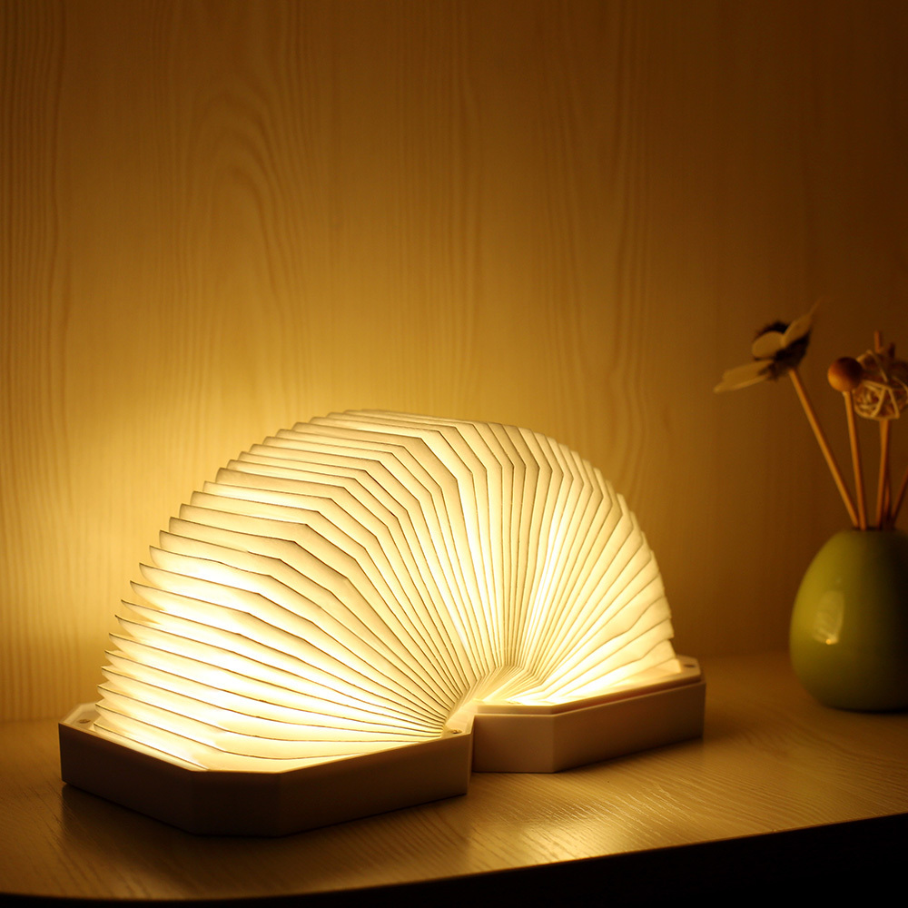 LED Table Lamp Bluetooth Speaker Folding Organ Light Desk Lamp Dimming USB Rechargeable Foldable Book Lamp Night Light led night light folding pages book light creative usb port rechargeable desk lamp wooden magnet cover home table light lamp