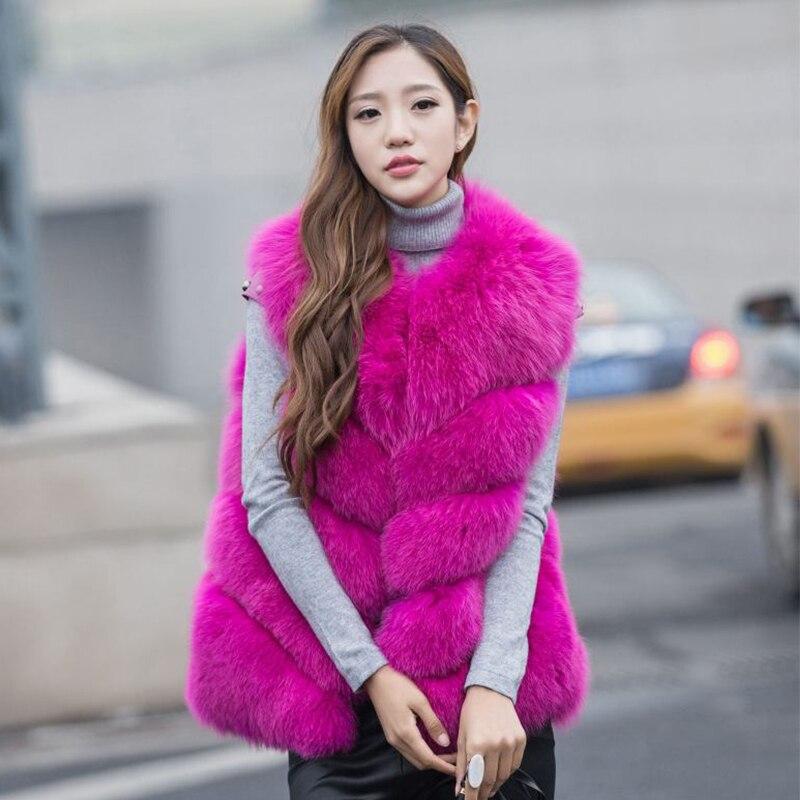 2017 nové dámské liščí kožešiny kabáty dlouhé sekce, paní liščí srst vesty skutečné fotografie nového zboží, doprava zdarma
