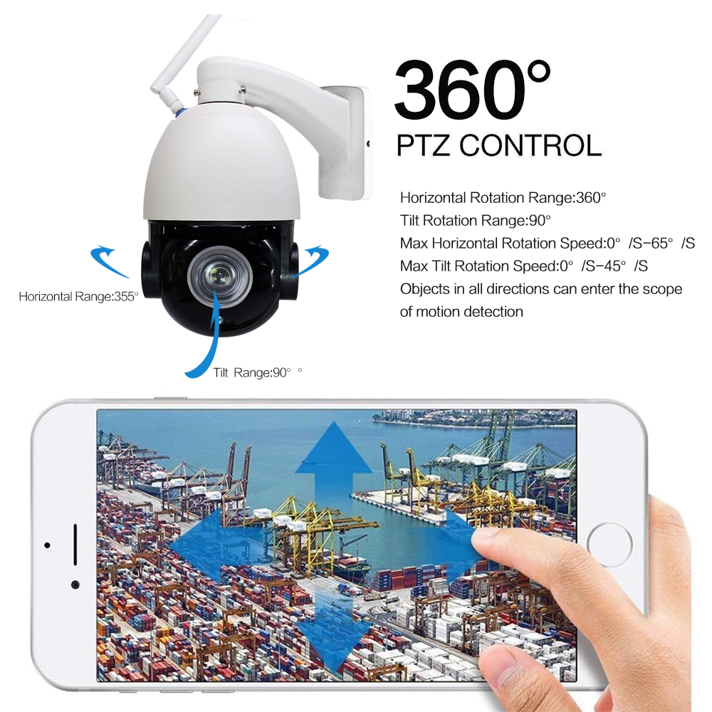 IP Camera WiFi 1080P Wireless PTZ Speed Dome CCTV 22X Zoom CCTV Security Cameras Outdoor Surveillance ip Camara exterior in Surveillance Cameras from Security Protection