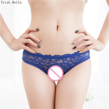 Trish Bella 2018 new Lace transparent simple Solid color Jacquard weave sexy lingerie underwear women panties string tanga thong