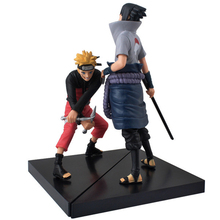 2pcs 15cm PVC Naruto Sasuke Uchiha Action figure toys dolls Anime brinquedos collection figures Model Naruto juguetes Kids Toys