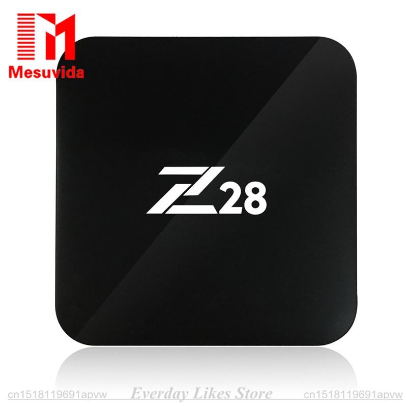 Prix pour Z28 Android 7.1 TV Box Rockchip RK3328 64-bit Cortex A53 RAM 1 GB/8 GB 2 GB/16 GB soutien H.264 265 4 K USB 3.0 WiFi Ensemble-top Box TV