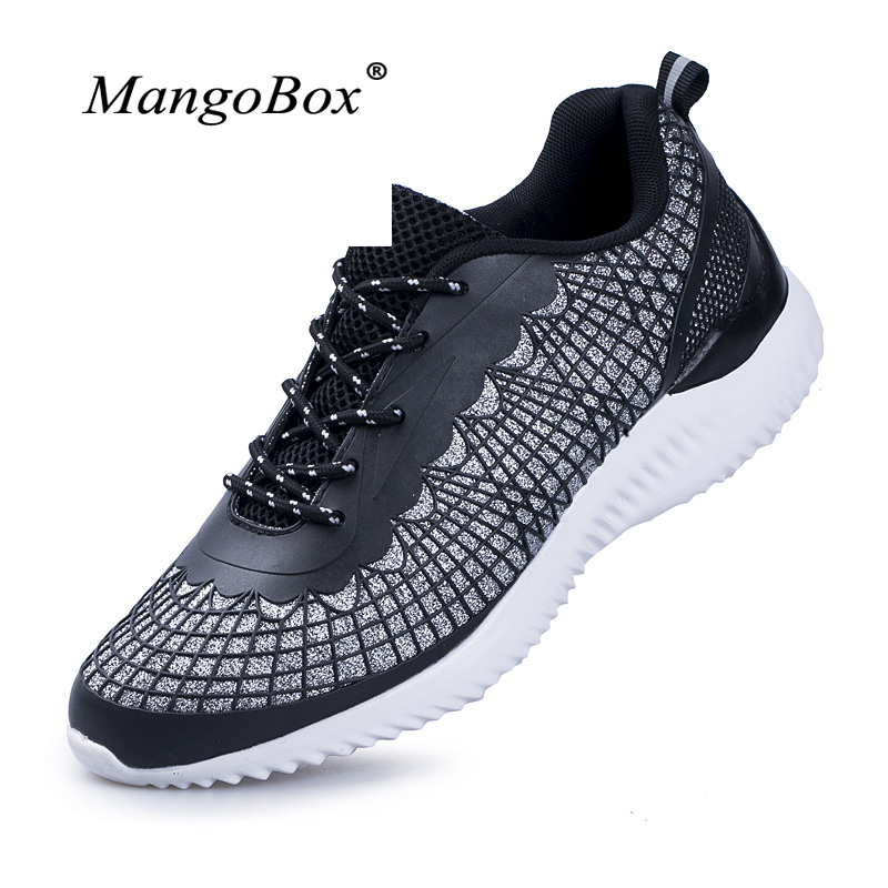 Man Women Sport Sneakers Summer Comfortable Running Shoes Lace Up Walking Athletic Trainers 2018 Couples Runner Shoes Black