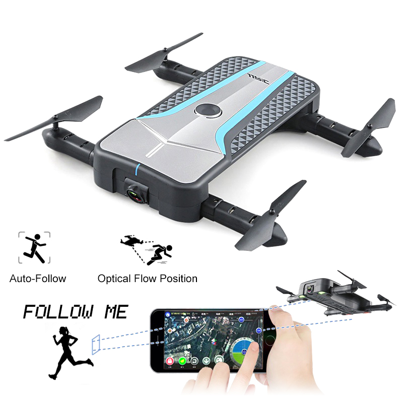 JJRC H62 Selfie Wifi FPV 720P Camera Mini Foldable Drone RC Helicopter Quadcopter Dron VS H61 Optical Positioning Auto-Follow me