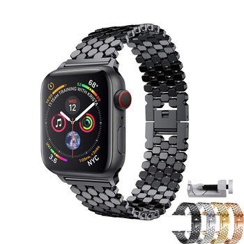 цена на stainless steel strap for apple watch band 42mm 38mm 5/4/3/2/1 strap metal watchband for iwatch bracelet 44mm/40mm belt+tool
