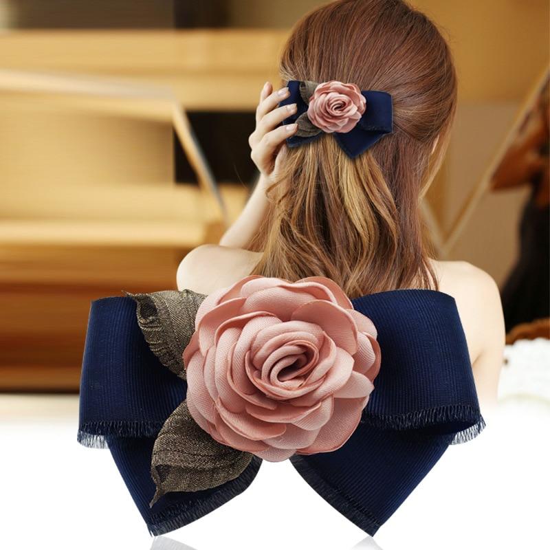 Модная Цветочная заколка для волос i-Remiel, весенний зажим для волос, корейская бижутерия, галстук-бабочка, аксессуары для волос для взрослых и...
