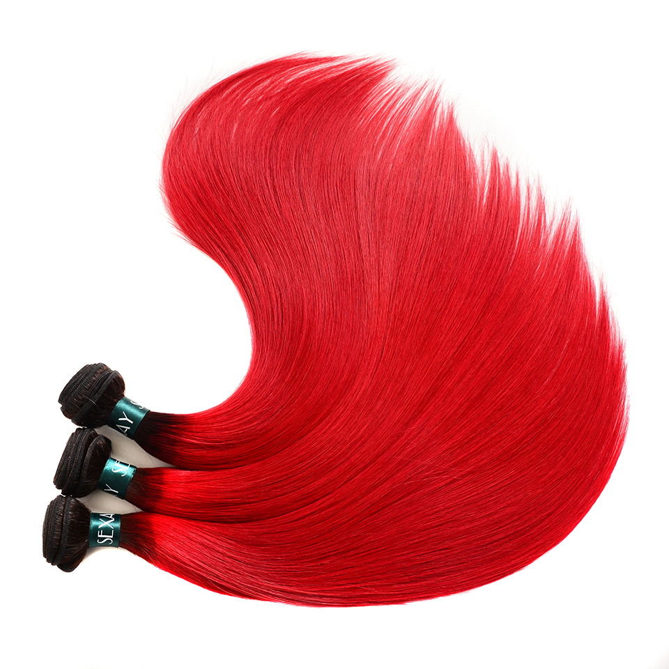 XYS_6550  Sexay 13×4 Lace Frontal With Bundles Brazilian Straight Hair three Bundles With Closure Darkish Roots Crimson Ombre Human Hair With Frontal HTB1CUaJnInI8KJjSspeq6AwIpXar
