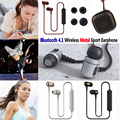 Metal bass Earphone Sports Bluetooth 4.1 Wireless Earbud Stereo Auriculares With Mic For iphone Samsung Xiaomi with EVA package