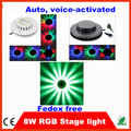 10pcs/lot 8w color 48leds sound activated led sunflower light sunflower led lighting led stage light for KTV