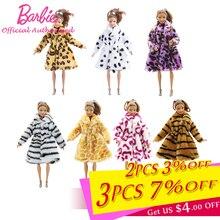 Barbie Fashion Doll Toy Accessories Clothes Model Show Leopard Print Coat Dress for 28-32cm Barbie B
