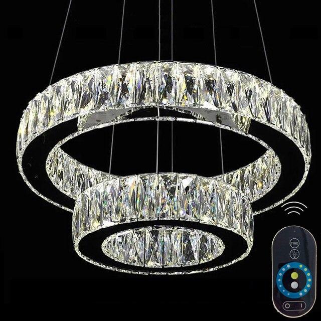 Dimmbare Moderne Kronleuchter Led Kristall Pendelleuchte Hängeleuchte Große  Kristall Leuchten Mit Fernbedienung VALLKIN