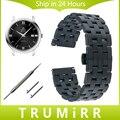 20mm venda de reloj de 22mm de liberación rápida + herramienta para omega los hombres de wome butterfly correa de acero inoxidable hebilla de cinturón de pulsera negro plata