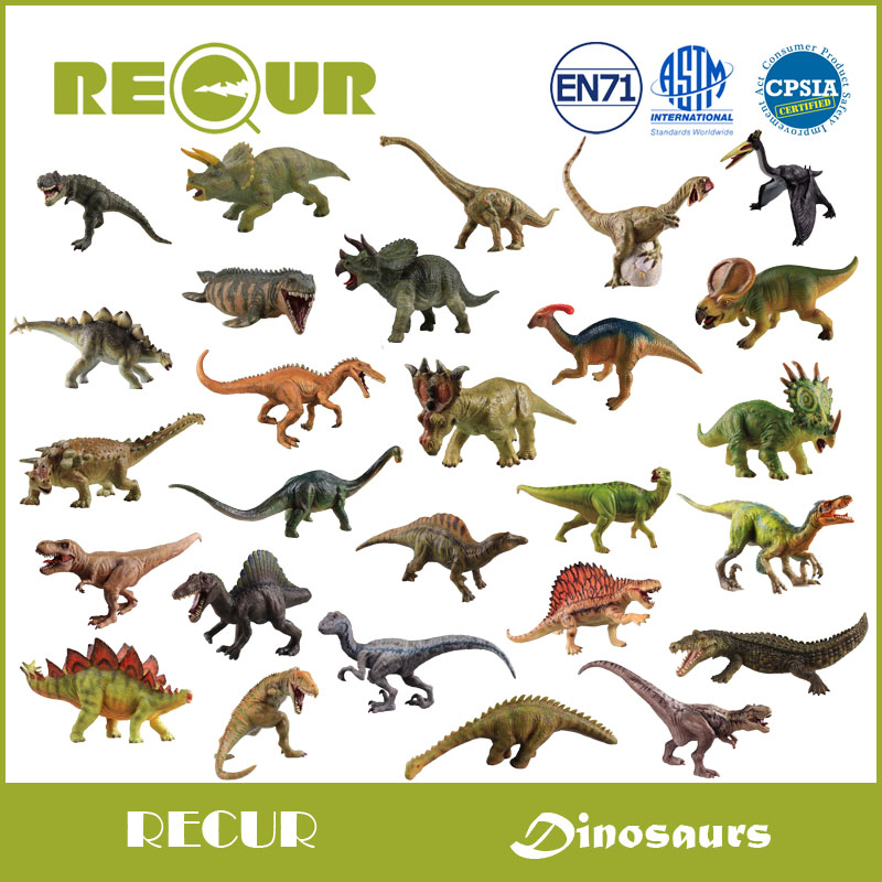 Recur Toys Classic Jurassic Dinosaur Series Simulated Hand Painted Soft PVC Collection Animal Model Action & Toys Figure For Kid recur ancient animal model saber toothed tiger model hand panited pvc animal figure toy gift collection for kids and collectors