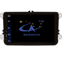 BEIDOUYH Android 8 inch Car GPS navigators for Volkswagen with Bluetooth/WiFi/GPS Navigation/Mirror link/SWC/USB/DVR car radio