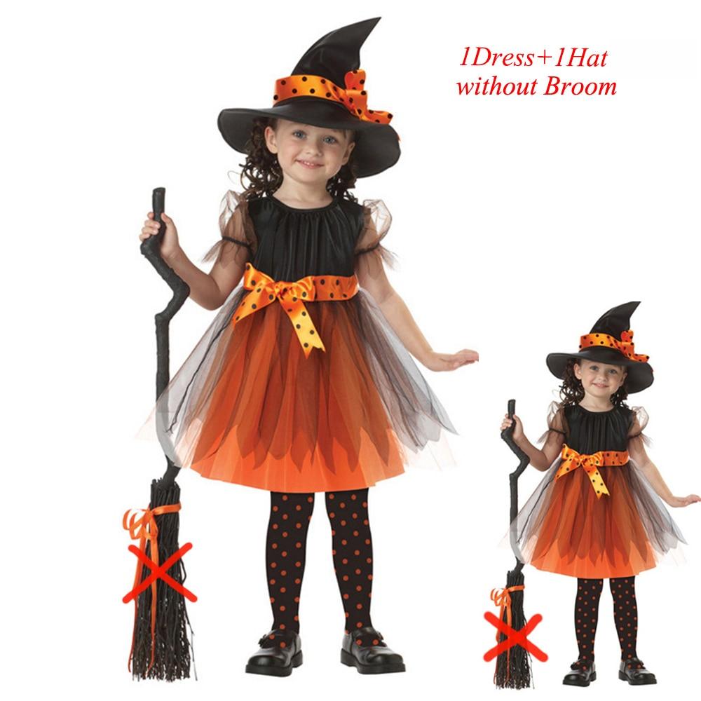 3pcs fantasy girls halloween costume coaplay witch dress children
