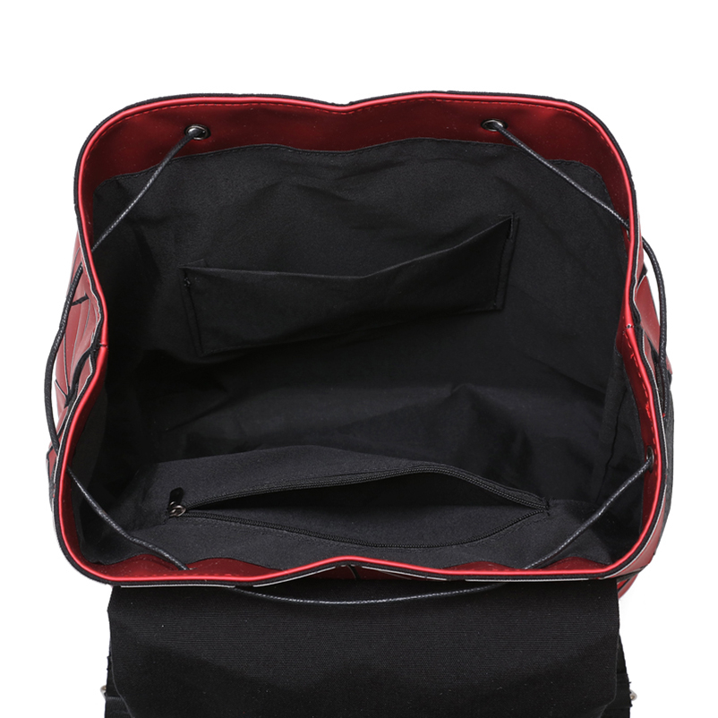 Nevenka Diamond Lattice Backpack Women Backpack Leather Creative Geometric Backpacks Drawstring Backpacks for Teenager Girl 201818