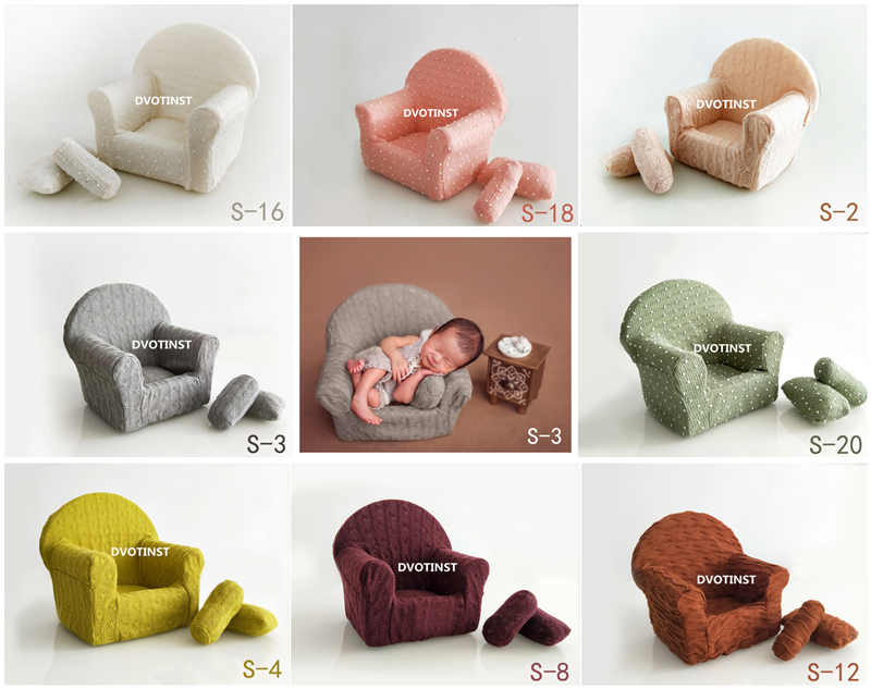 Fotografia Bebê Recém-nascido Adereços Dvotinst Posando Mini Sofá Da Cadeira Do Braço + 2 Travesseiros pcs Poser Foto Prop Fotografia Acessórios de Estúdio