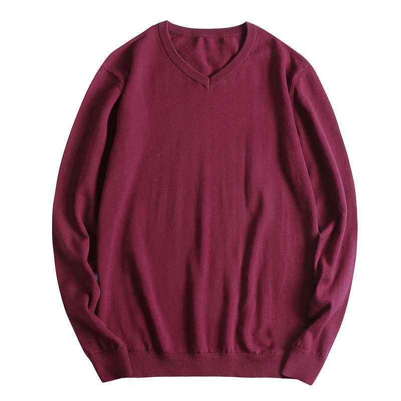 적합 45-150 kg 바디 스웨터 남자 패션 2019 클래식 새로운 v 목 표준 양모 pullovers 플러스 아시아 크기 L-5XL 6xl 7xl 8xl