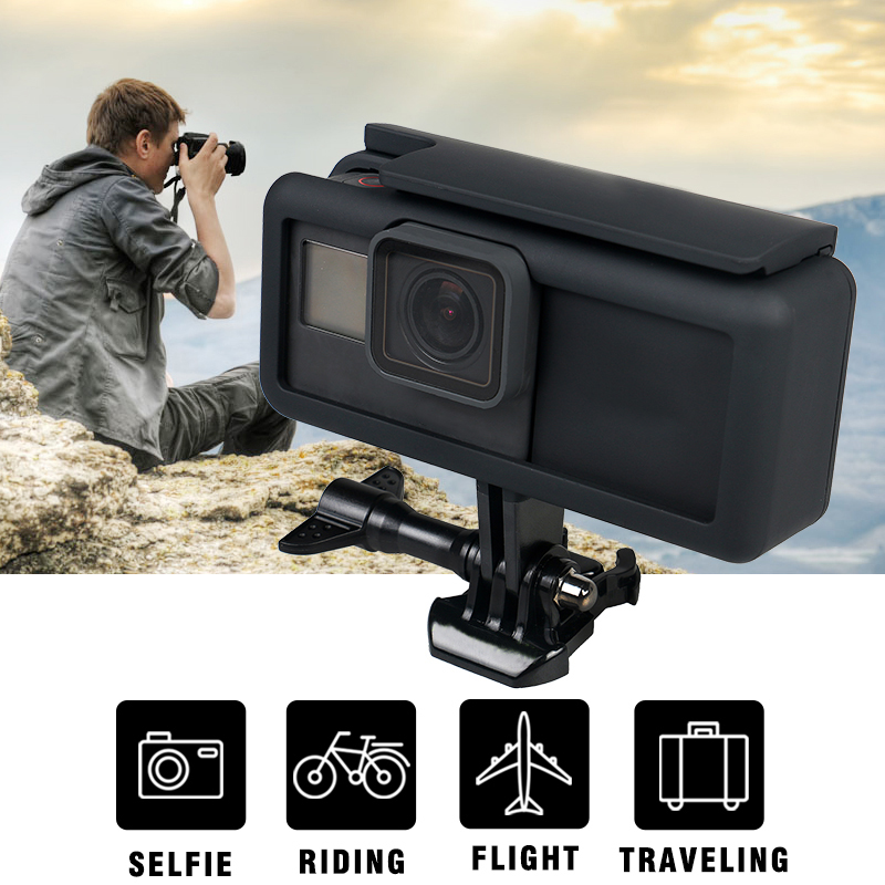 For Gopro hero 5 Protective Housing Case Frame + 2300 mAh Durable Battery Inside Power Bank For GOPRO Hero 5 Action camera Black protective abs frame case for iphone 5 transparent black