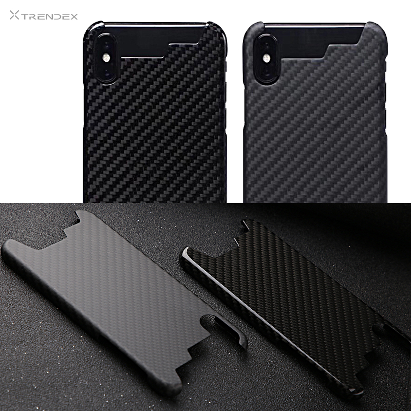 TRENDEX Case For Apple iPhone XS MAX XR X 8 7 Plus 100 Genuine Real Carbon