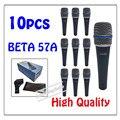 10 шт. оптовая Высокое Качество Beta 57A Clear Sound Пульт Проводной Микрофон Караоке