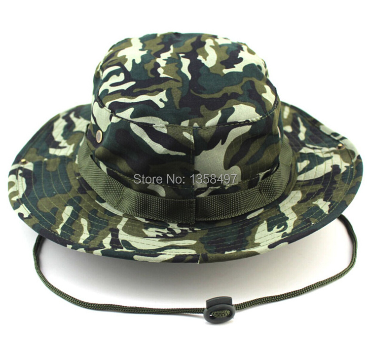 27051e5e3cf Summer Camo Fisherman Casual Bucket Camping Hiking Travel fishing  mountaineering sombrero sunshade Bonnie hat For women men-in Bucket Hats  from Apparel ...