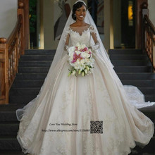 Lave U Me Wedding Dresses Gowns Long Sleeve Bride Dress