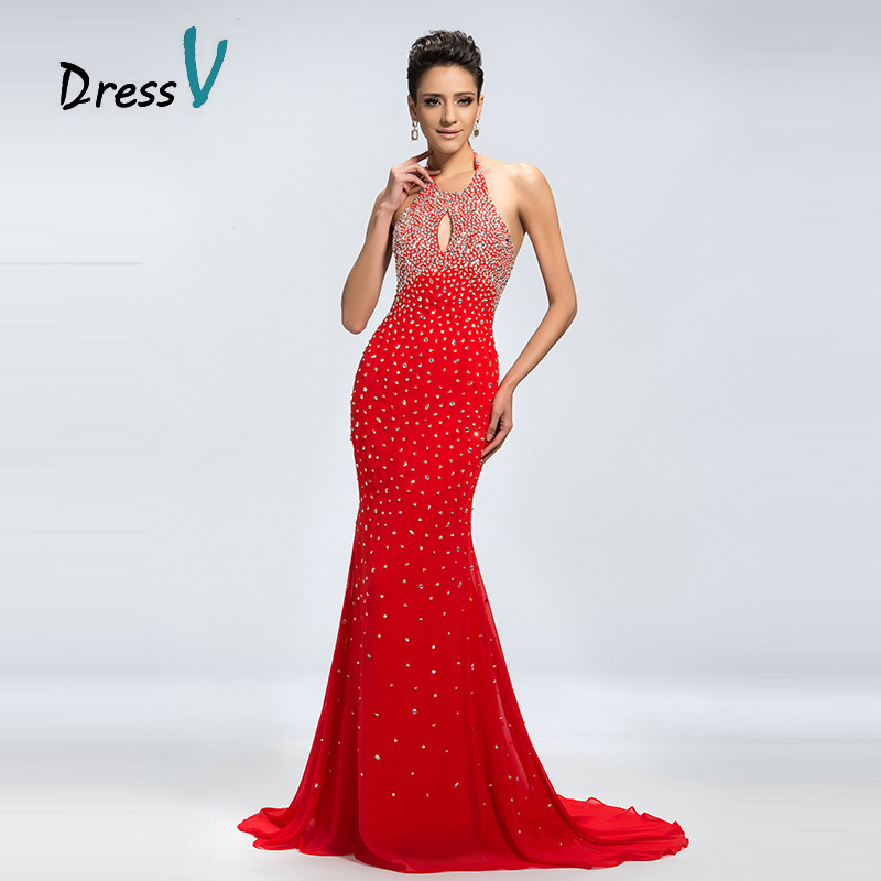 Aliexpress.com : Buy Dressv Mermaid Long Red Prom Dresses 2017 ...