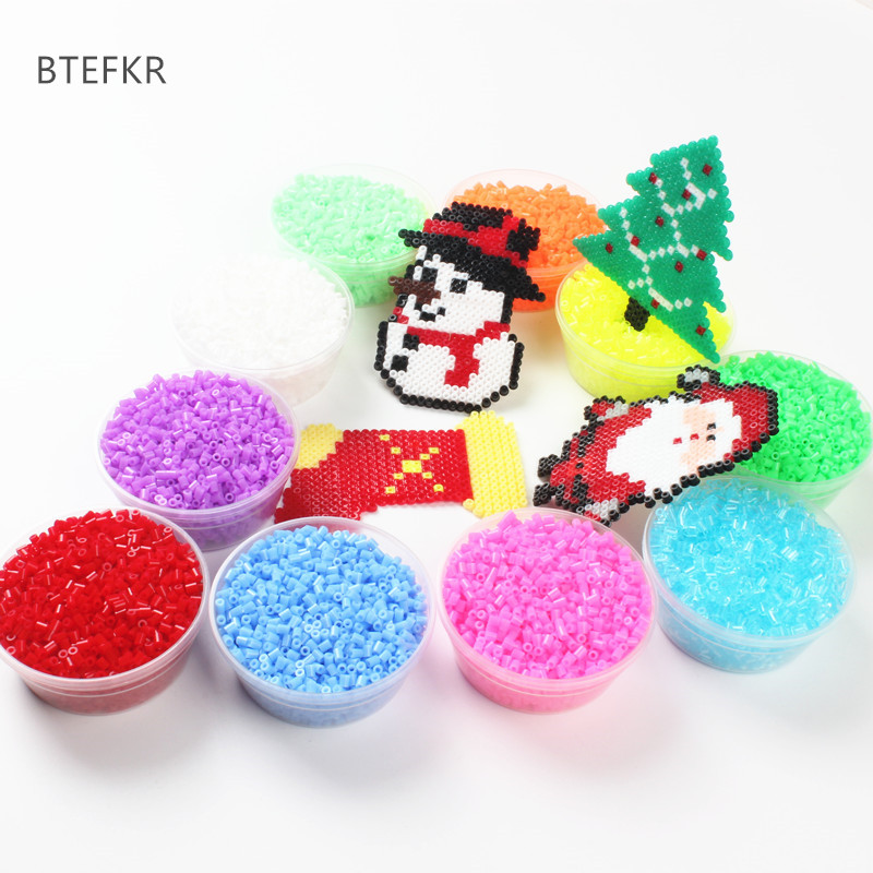 1000Pcs/Bag 2.6MM Hama Beads Puzzle Toys 72 Colors Kids Education DIY Perler Beads Toys 3D Puzzle Perler Beads Perles De Hama
