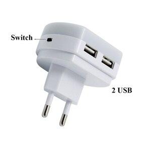 Image 5 - Thrisdar Light Sensor LED Night Light with Dual USB Port 5V 1A Control Room Home USB Plug in Wall Charger Lamp Plug Socket Light