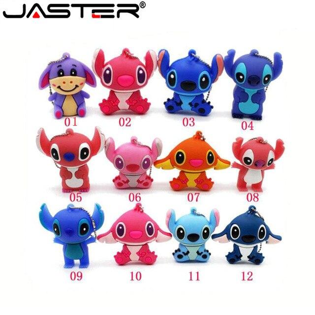 JASTER Hoạt Hình Đáng Yêu Lilo & Stitch Ổ Đĩa Flash USB 64 GB 32 GB 16G 8G 4 GB Bút Ổ thẻ nhớ Pendrive Ổ Tặng