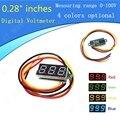 """0.28 """"DC Digital Montaje En Panel Del Voltímetro Voltaje LED del Metro de Voltio 0-100 V rojo/verde/amarillo/azul Opcional"""
