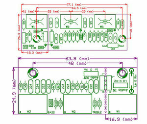 Image 2 - Placa de Control pasiva para amplificador de tono, Control de volumen de agudos de graves, preamplificador, Kits DIY, ajuste de potenciómetro HIFI entusiasta