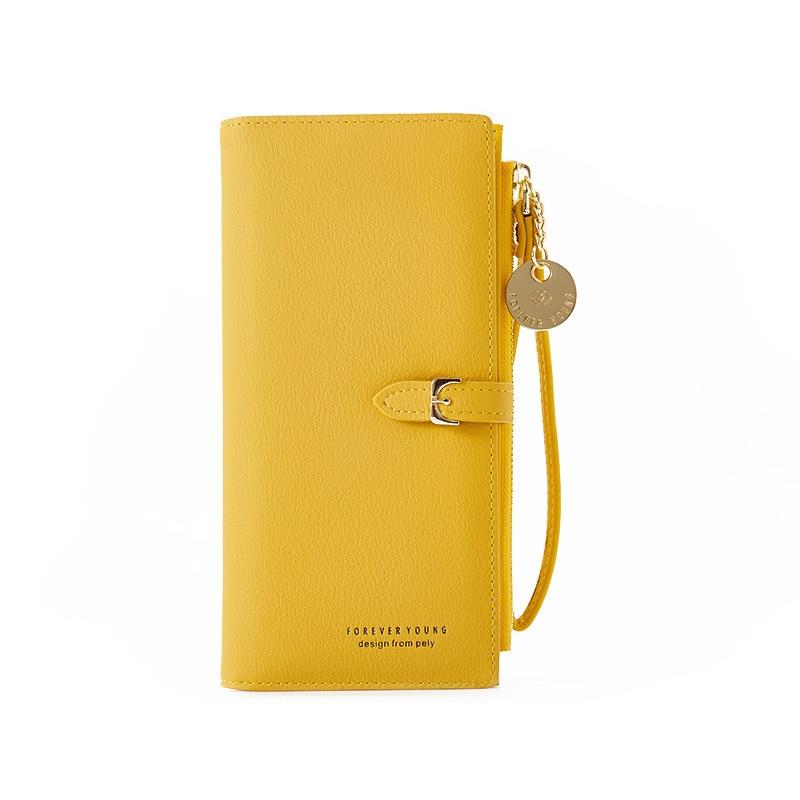 Браслет женский длинный кошелек Много отделов женские кошельки клатч Дамский кошелек на молнии карман для телефона держатель для карт дамские Carteras - Цвет: Yellow